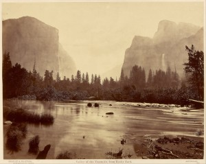 Valley of the Yosemite from Rock Ford -bron wikimedia commons, Google Art Project
